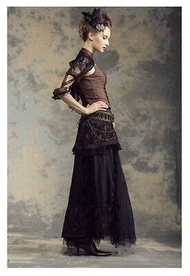 rq-bl maxi steampunk skirt