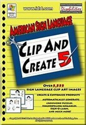 ASL American Sign Language Clip & Create 5 American Sign Language 5 Cd