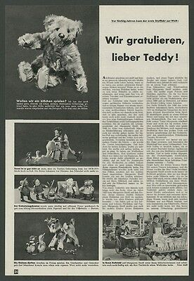"o. Reklame Fabrik Jubiläum Steiff-Bär ""50 Jahre Teddy"" Mecki Puppen Giengen 1953"