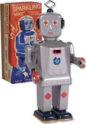 Retro Toy: Sparkling Mike Robot Tin Toy
