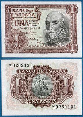 SPANIEN / SPAIN 1 Peseta 1953 UNC  P.144