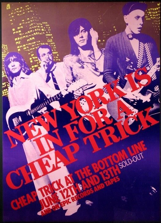 Cheap Trick Original Promo Poster from Concert At The Bottom Line New York 1979