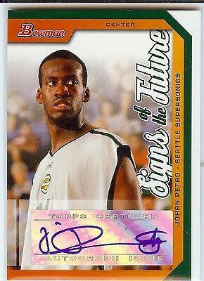 Johan Petro Auto 2005 06 Bowman Rookie Autograph Rc Sonics