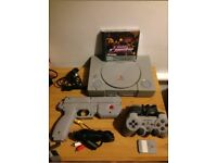 playstation 1 with time crises and gun bundle