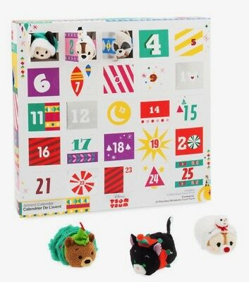 "DISNEY SET OF 25 MINI 3.5"" TSUM ADVENT CALENDAR CHRISTMAS HOLIDAY DECEMBER 2018"