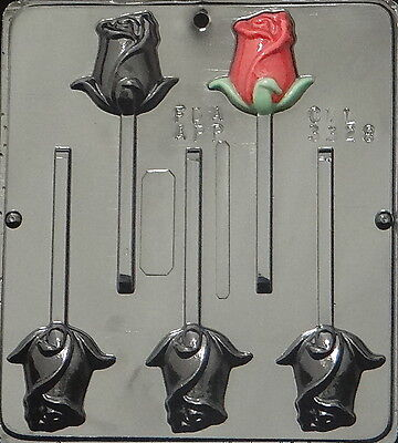 Rose Lollipop Chocolate Candy Mold  3328 NEW