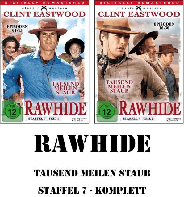 Rawhide - Tausend Meilen Staub - Season/Staffel 7.1 + 7.2, 8 DVD Set NEU + OVP