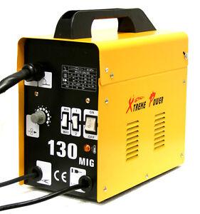 MIG-130-Flux-Core-Wire-Welder-Welding-Machine-w-Cooling-Fan-Face-Mask-115V