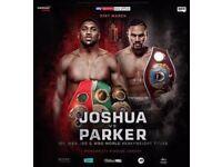 Anthony Joshua vs Joseph Parker Tickets x 2