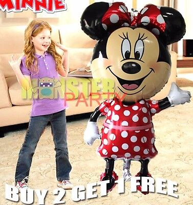 "44"" Center Mickey Minnie Mouse Birthday Party Balloons Balloon Red decoration"