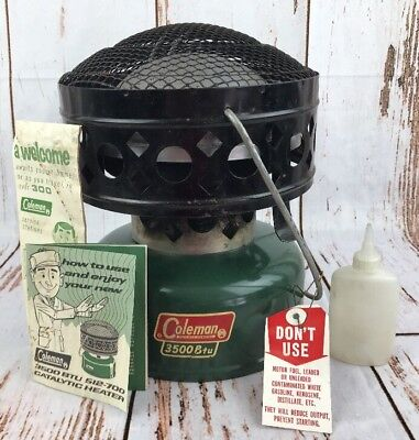 Coleman Tent Heaters - Vtg Coleman Catalytic Heater 512-700 3500 BTU Camping Tent & Box Untested