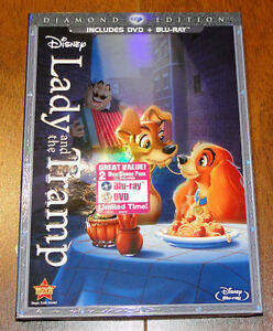 Disney's Lady and the Tramp Blu ray and DVD $30