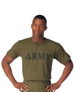 PT T-Shirt Gray or OD Army Marine Navy Air Force Physical Training Tee XS - 4XL