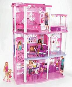 Barbie 3 Story Dream Townhouse Doll House w/ Elevator & Accessories- PU ONLY MI