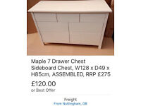 Traditional 7 drawer Chest, maple