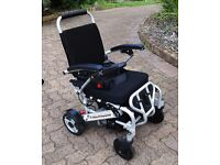 Light Folding Electric Wheelchair - Folds in Seconds - Goes 15 Km/charge -Ideal for Travel & Cruises