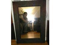 Large Black Damask mirror..