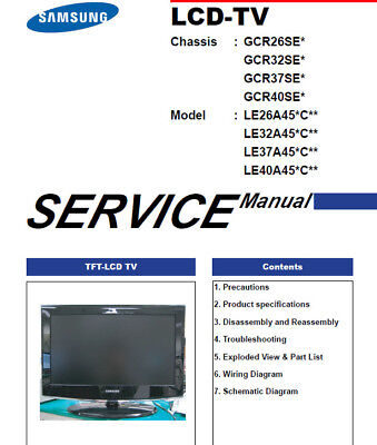 Samsung TV service manual Le 26 32 37 40 A45 Samsung Tv Service Manual