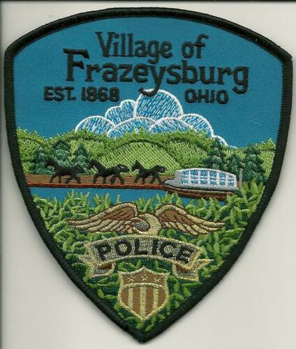 Colorful Frazeyburg Police State Ohio OH Bridge & Horses