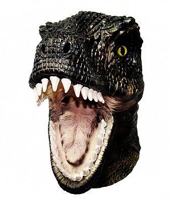 Latex Ganzer Kopf Tyrannosaurus T-Rex Maske Dinosaurier Reptil Kostüm Jurassic B