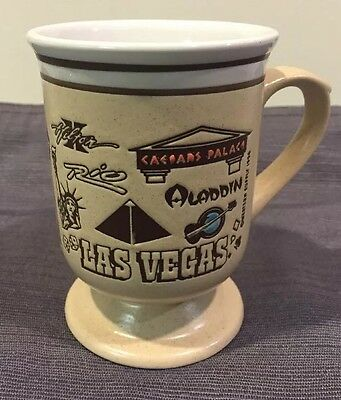 Beautiful Las Vegas With Many Casinos Listed Ceramic Mug Western Supply 1996