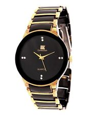 Iik Collection Black Analog Round Casual Watch - smciikroundglbl