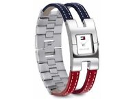 Women's Tommy Hilfiger Watch High Gloss Stainless Steel Leather Metal Strap NEW