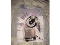 Next Girls cute penguin top Age 6, Christmas