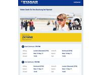 Ryanair Flight Ticket London - Dortmund 10.05.2017