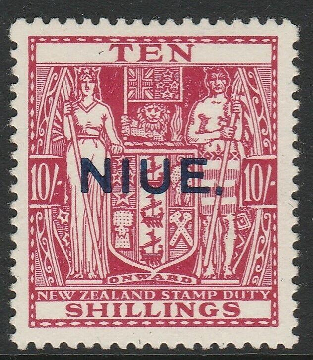 NIUE 1941 SG 81- 10/- FINE MTD MINT CAT£140