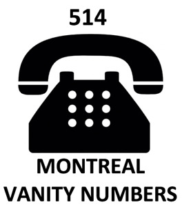 premium collection of rare montreal 514 vanity vip phone number