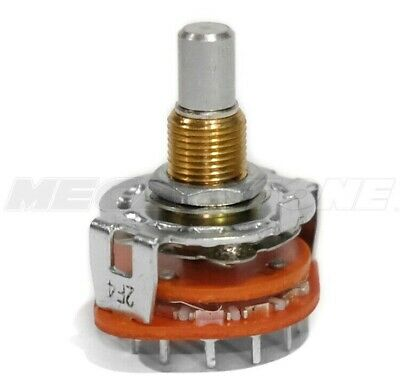 New Alpha 4 Pole 3 Position Rotary Switch Single Deck Wpc-pins - Usa Seller