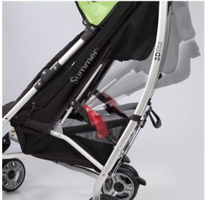 Summer Infant 3D Lite Stroller, Black/Lime