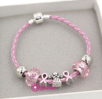 Pink Breast Cancer Awareness Bracelet Fashion Jewelry  Women DONATION 8-1 Breast Cancer Fashion Bracelet