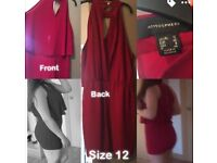 Red playsuit size 12