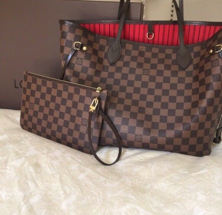 Louis Vuitton Neverfull Bag Designer Womens Clutch Pouch Purse Holiday