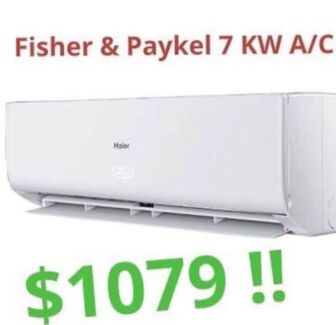 ***Fisher & Paykel 7KW Split System Air Conditioner Just $1079***
