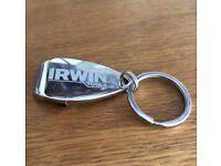 Irwin Tools Metal Bottle Opener Keyring Boxed