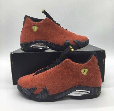 """Nike Air Jordan Retro 14 XIV """"Ferrari"""" Red Black Size 9.5"""