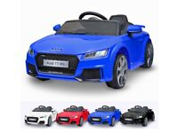 Licensed Audi ttrs 12v ride on car with remote control music and lights (leeds) only £120