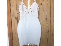 White Missguided Premium Dress