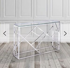 Glass console/accent table