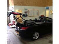 Convertible Car Roof, panoramic sunroof Repair Service