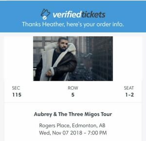 Drake & Three Migos Tickets (2) section 115 row 5