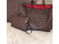 Louis Vuitton Neverfull Designer Womens Handbag Bag Pouch Clutch Bag Purse