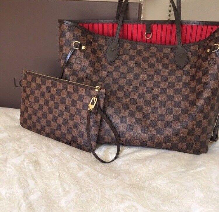 Louis Vuitton Neverfull Handbag Designer Womens Sdy Purse Wallet Clutch Bag