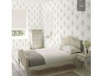 14 rolls of gorgeous Laura Ashley Wisteria Wallpaper in Duck Egg Blue/Pistachio