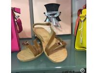 Tan flat sandals / wholesale only eBay/ Facebook/ markets