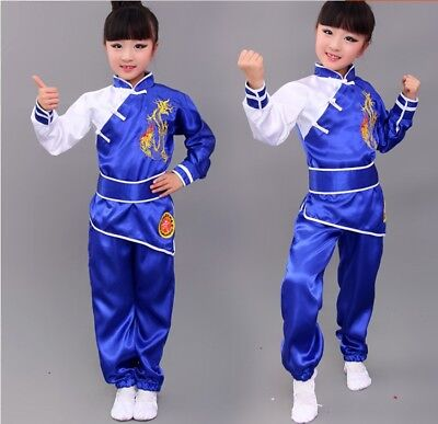 Loose Dragon Clothes Chinese Wushu fashion Uniform clothing Suit child -4 Color ()