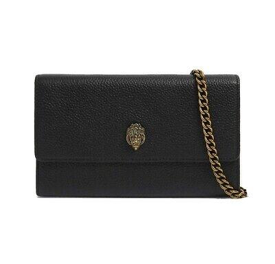 Kurt Geiger Leather Kensington Chain Wallet £129 Black Clutch Bag Purse
